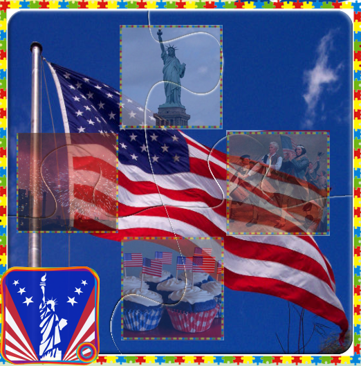 4th July Independence Day Puzzles and Games for Kids
