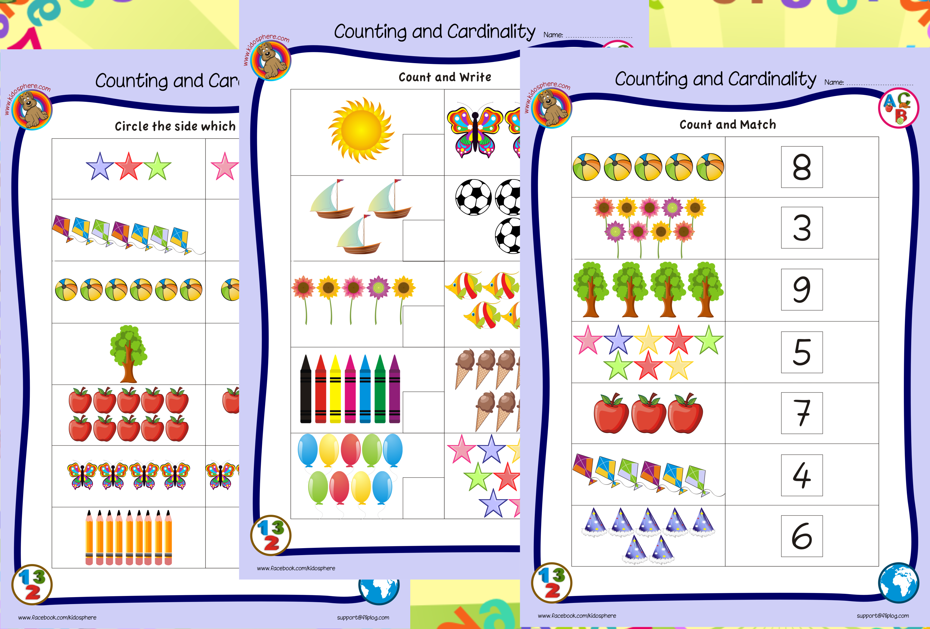 Counting and Cardinality Worksheets | Kidosphere