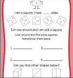 Shapes - Square Worksheets